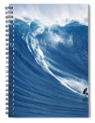 Surfing The Infamous Jaws Spiral Notebook