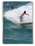 Surfing The White Wave At Huntington Beach Spiral Notebook