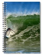 Surfing The Winter Atlantic Spiral Notebook