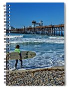 Surfing Today Spiral Notebook