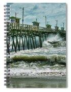 Surge Under The Pier Spiral Notebook