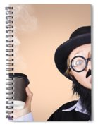 Surprised Business Person High On Coffee Spiral Notebook