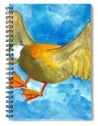 Surprised Flying Duck Detail Of Duck Meets Fairy Ballet Class Spiral Notebook