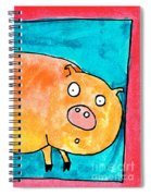 Surprised Pig Spiral Notebook