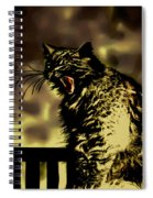 Surreal Cat Yawn Spiral Notebook