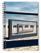 Surreal Elephant Desert Scene Spiral Notebook
