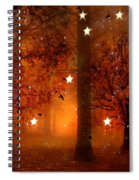 Surreal Fantasy Autumn Woodlands Starry Night Spiral Notebook
