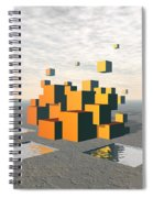 Surreal Floating Cubes Spiral Notebook
