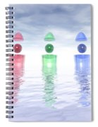 Surreal Glass Structures Spiral Notebook