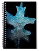 Surreal Ice Leaf Spiral Notebook