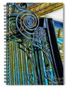 Surreal Reflection And Wrought Iron Spiral Notebook