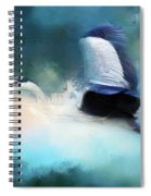 Surreal Stork In A Storm Spiral Notebook