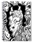 Surrealism Pagan Black And White Spiral Notebook
