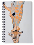 Surrealist Mother And Baby Giraffe  Spiral Notebook