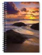 Surrounded By The Sea Spiral Notebook