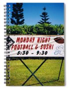 Sushi And Football In Hawaii Spiral Notebook
