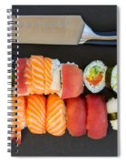 Sushi And Knife Spiral Notebook