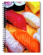 Sushi Plate 4 Spiral Notebook