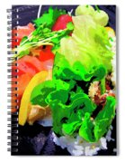 Sushi Plate 5 Spiral Notebook