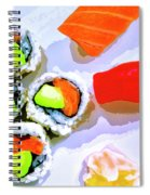 Sushi Plate 6 Spiral Notebook