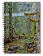 Suspended In The Rain Forest Spiral Notebook