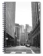 Sutter Street - San Francisco Street View Black And White  Spiral Notebook