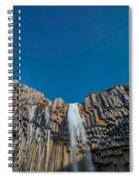 Svartifoss Waterfall, Iceland Black Spiral Notebook