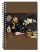 Sven Richard Bergh - The Artist, Julia Beck 1883 Spiral Notebook
