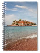 Sveti Stefan Island Iconic Landmark Spiral Notebook
