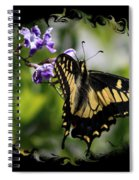 Swallowtail Butterfly 2 With Swirly Framing Spiral Notebook