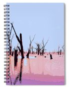 Swamp And Dead Trees Spiral Notebook