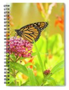 Swamp Milkweed And Monarch Spiral Notebook