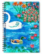 Swan And Duck Spiral Notebook