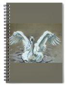 Swan Dance Spiral Notebook