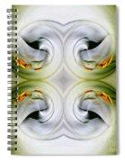 Swan Dancing Spiral Notebook