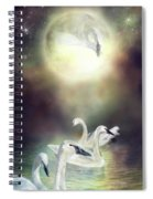 Swan Dreams Spiral Notebook