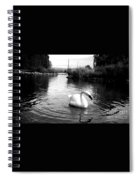 Swan In Black And White Spiral Notebook