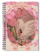 Swan In Pink Card Spiral Notebook