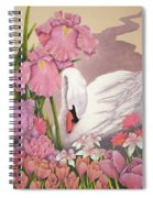 Swan In Pink Spiral Notebook