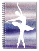 Swan Lake Ballerina Silhouette Spiral Notebook