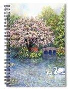 Swan Lake Spiral Notebook