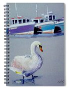Swan Lake With Pleasure Boats Spiral Notebook