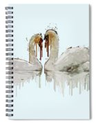Swan Love Acrylic Painting Spiral Notebook