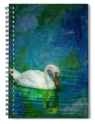 Swan On A Blue And Green Lake Spiral Notebook