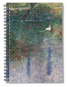 Swan On Town Lake - Now Lady Bird Lake Spiral Notebook