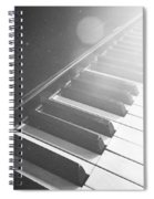 Swan Song Music Piano Keys Black And White Spiral Notebook