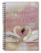 Swan Valentine Spiral Notebook