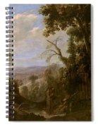 Swanevelt, Herman Van Woerden, 1603 - Paris, 1655 Landscape With Hermit Bound In Chains 1634 - 1639. Spiral Notebook
