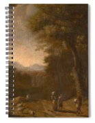 Swanevelt, Herman Van Woerden, 1603 - Paris, 1655 Landscape With Travellers And A Shepherd 1635 - 16 Spiral Notebook