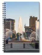 Swann Fountain In The Springtime Spiral Notebook